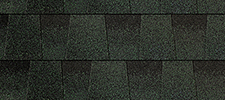Green color sample for lifetime architectural shingles