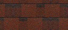 Rivera Red optional color sample for lifetime architectural shingles