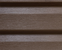 Canyon Brown optional color sample for lifetime vinyl siding