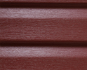 Heritage Red optional color sample for lifetime vinyl siding
