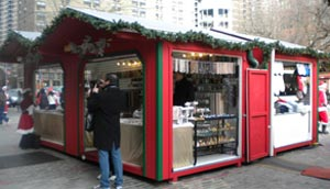 Commercial Portable Vendor Units in Holiday Villages and Christmas Markets