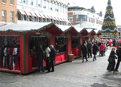 Red & Green Christmas Village Vendor Units
