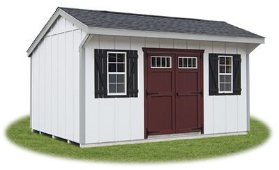 10x16 LP Board 'N' Batten Cottage Storage Shed From Pine Creek Structures