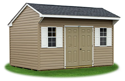 10x14 Vinyl Sided Cottage Storage Shed From Pine Creek Structures
