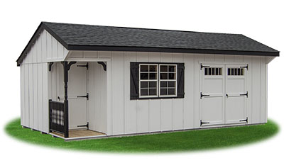 12x24 Custom Cottage Storage Shed with new LP Board N Batten Siding