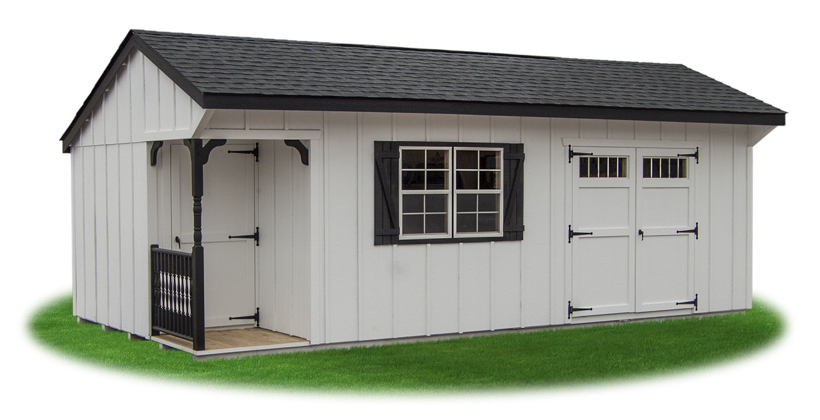 Cottage and hip style sheds pine creek structures for Lp smartside board and batten