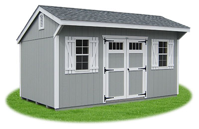 New England Style Cottage Storage Shed
