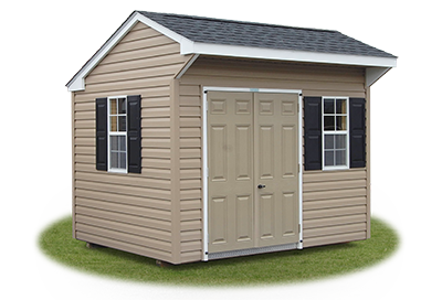 8x10 Vinyl Sided Cottage Storage Shed From Pine Creek Structures