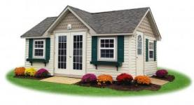 Custom Victorian Style Vinyl Shed from Pine Creek Structures
