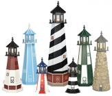 handcrafted ornamental lighthouses