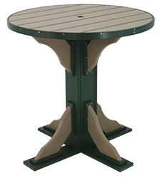 "Pine Creek Structures Outdoor Patio Furniture - 40"" Round Pub Table"
