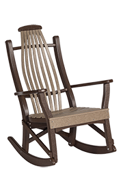 Pine Creek Structures Outdoor Patio Furniture - Bent Poly Rocker