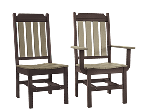 Pine Creek Structures Outdoor Patio Furniture - Poly Classic Dining Chairs