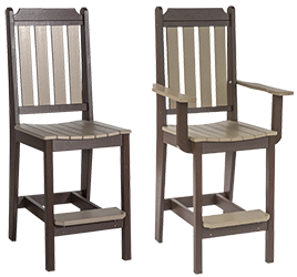 Pine Creek Structures Outdoor Patio Furniture - Classic Pub Chairs
