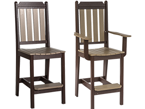 Pine Creek Structures Outdoor Patio Furniture - Poly Classic Pub Chairs