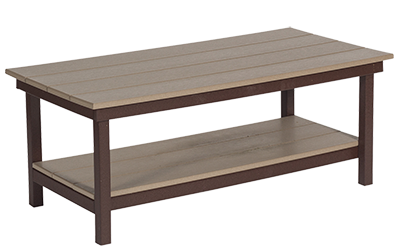 Pine Creek Structures Outdoor Patio Furniture - poly coffee table