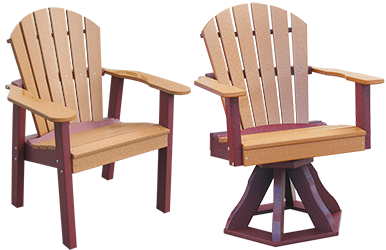 Pine Creek Structures Outdoor Patio Furniture - Fanback Dining Chairs