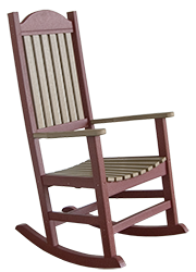 Pine Creek Structures Outdoor Patio Furniture - Poly Plantation Rocker