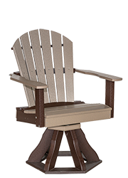Pine Creek Structures Outdoor Patio Furniture - Poly Swivel Fanback Dining Chair