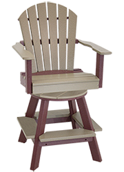 Pine Creek Structures Outdoor Patio Furniture - Poly Swivel Fanback Pub Chair