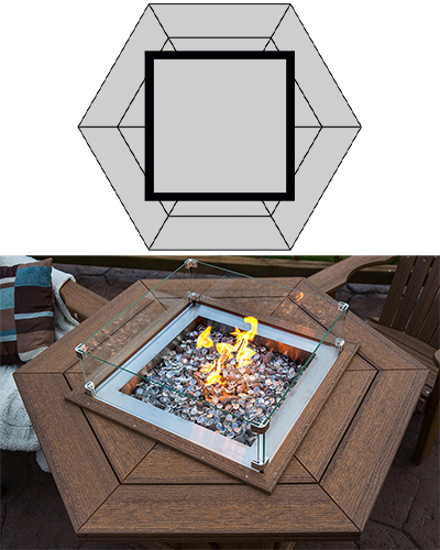 Fire Tables: Hexagon Top Option