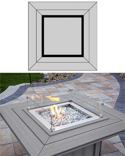 Fire Tables: Square Top Option