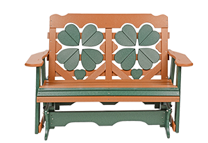 Pine Creek Structures Outdoor Patio Furniture - 4' Poly Clover Glider