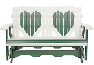 Pine Creek Structures Outdoor Patio Furniture - 5' Poly Heart Glider
