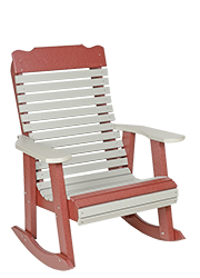 Pine Creek Structures Outdoor Patio Furniture - Poly Contoured Rocker