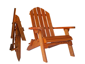 Pine Creek Structures Outdoor Patio Furniture - Wooden Folding Adirondack Chair
