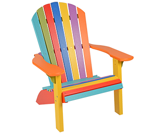 Pine Creek Structures Outdoor Patio Furniture - Poly Adirondack Chair