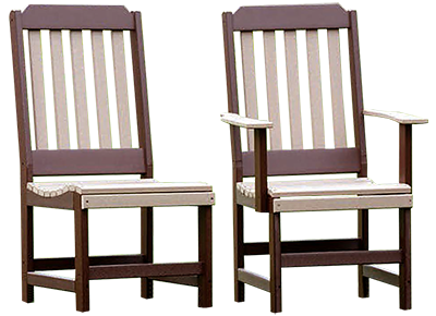 Pine Creek Structures Outdoor Patio Furniture - Classic Dining Chairs