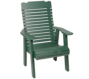 Pine Creek Structures Outdoor Patio Furniture - Poly Contoured Chair