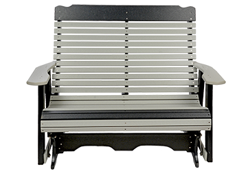 Pine Creek Structures Outdoor Patio Furniture - 4' Poly Contoured Glider