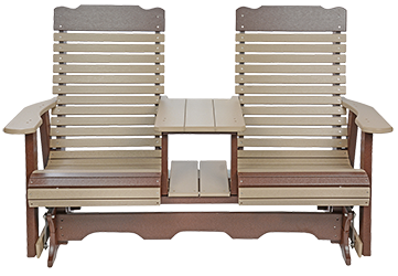 Pine Creek Structures Outdoor Patio Furniture - Poly Contoured Settee