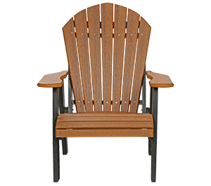 Pine Creek Structures Outdoor Patio Furniture - Poly Fanback Chair