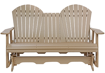 Pine Creek Structures Outdoor Patio Furniture - 5' Poly Fanback Glider