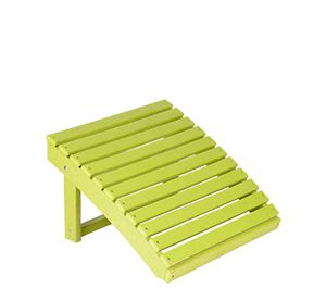 Pine Creek Structures Outdoor Patio Furniture - Poly Adirondack Ottoman