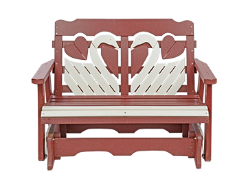Pine Creek Structures Outdoor Patio Furniture - 4' Poly Swan Glider