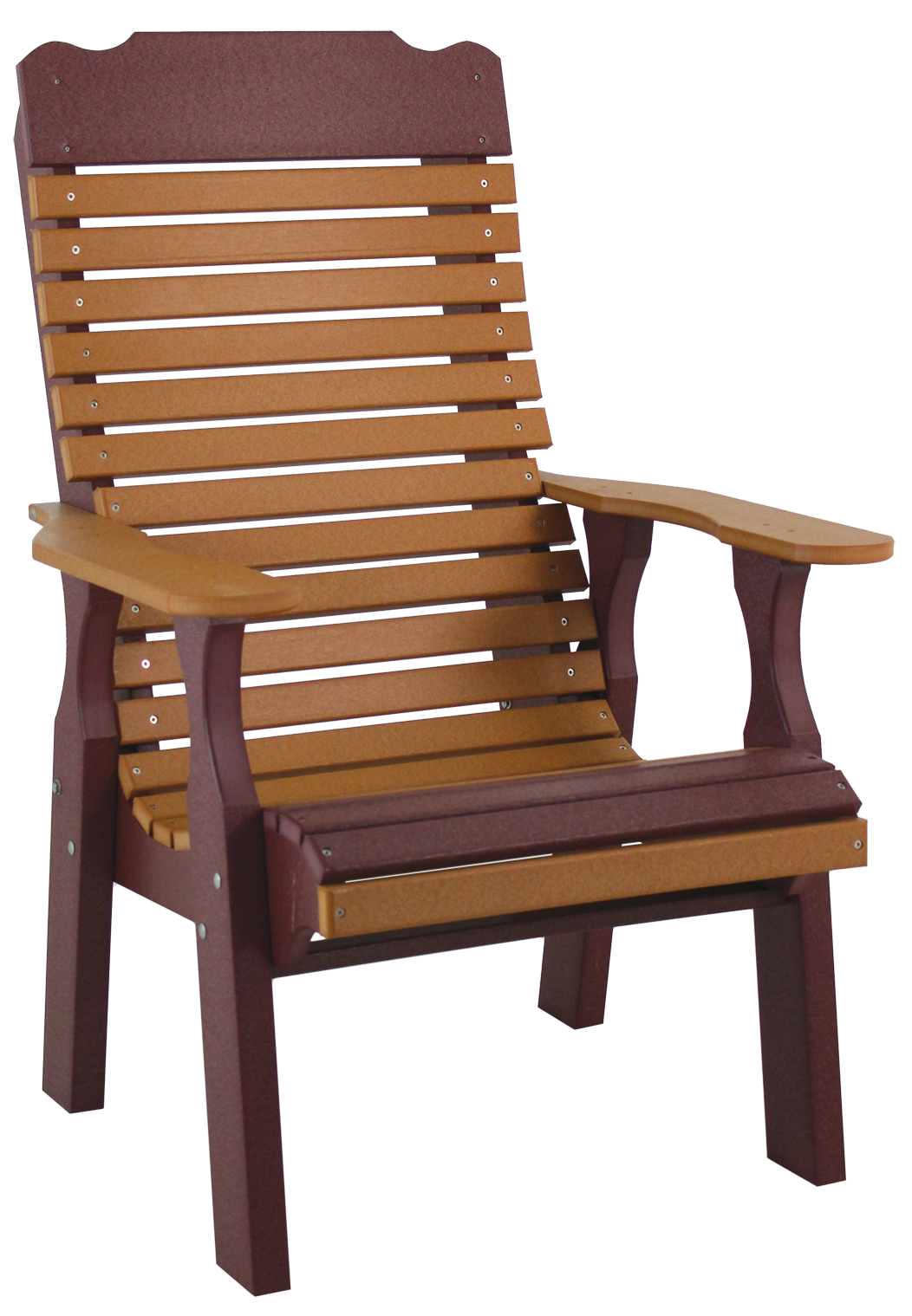 Pine Creek Structures Poly Outdoor Patio Furniture - contoured back chair