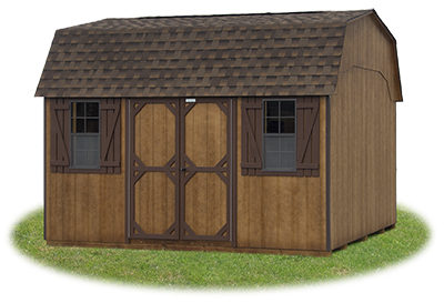 10 x14 Gambrel Barn with coffee brown LP Smart Side
