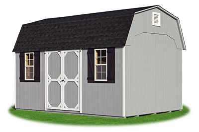 10 x16 Gambrel Barn with grey LP Smart Side