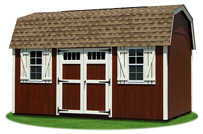 10 x16 New England Style Gambrel Barn with LP Smart Side