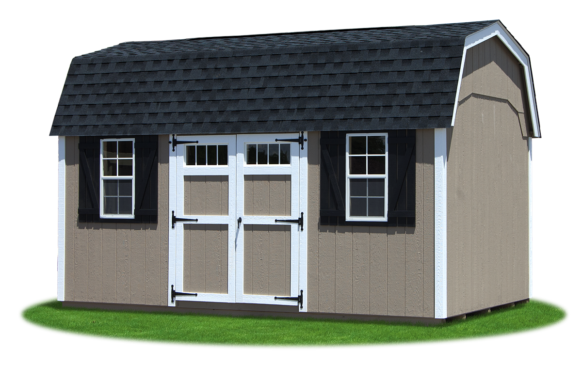 gambrel barns pine creek structures 10x16 lp sided gambrel dutch storage shed with a new england package