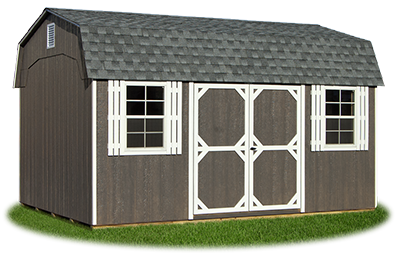 12x16 Gambrel Barn with drfitwood LP Smart Side