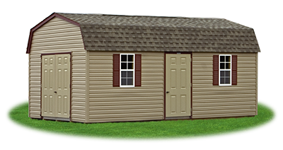12x24 Gambrel Barn with clay vinyl siding