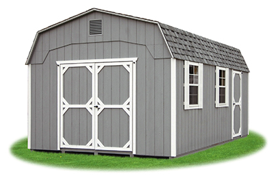 12x20 Gambrel Barn with light grey LP Smart Side