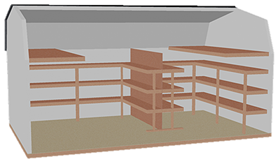 Dutch organizer shelving package (Interior Diagram)
