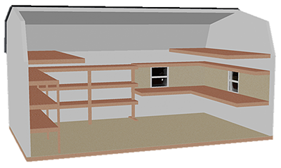 Dutch Space Saver/Workshop Combo shelving package (Interior Diagram)