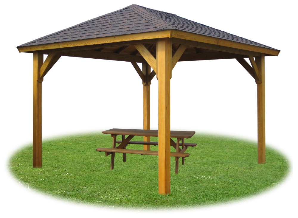 Gazebos pergolas pavilions pine creek structures for Pavilion cost per square foot